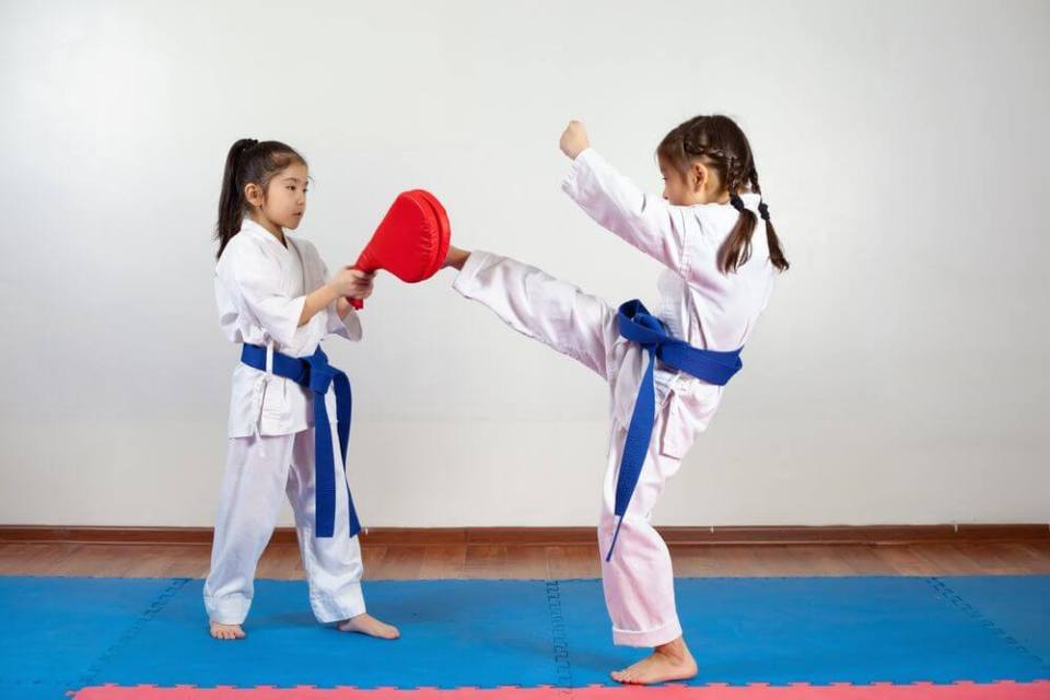 Kids Learning Self-defense