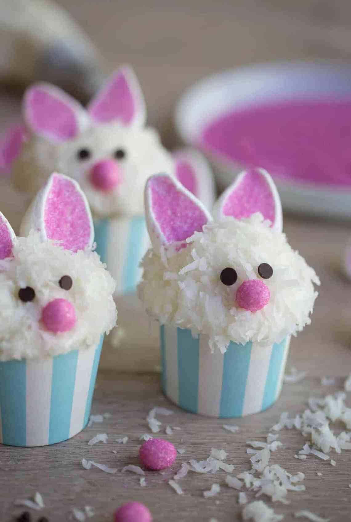 Bunny Cupcakes - Cute Easter Dessert Recipe