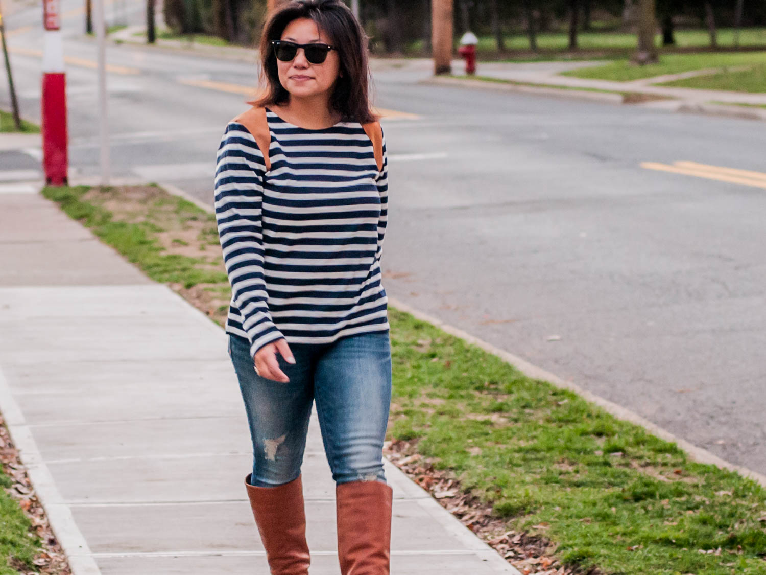 suede and stripes jcrew