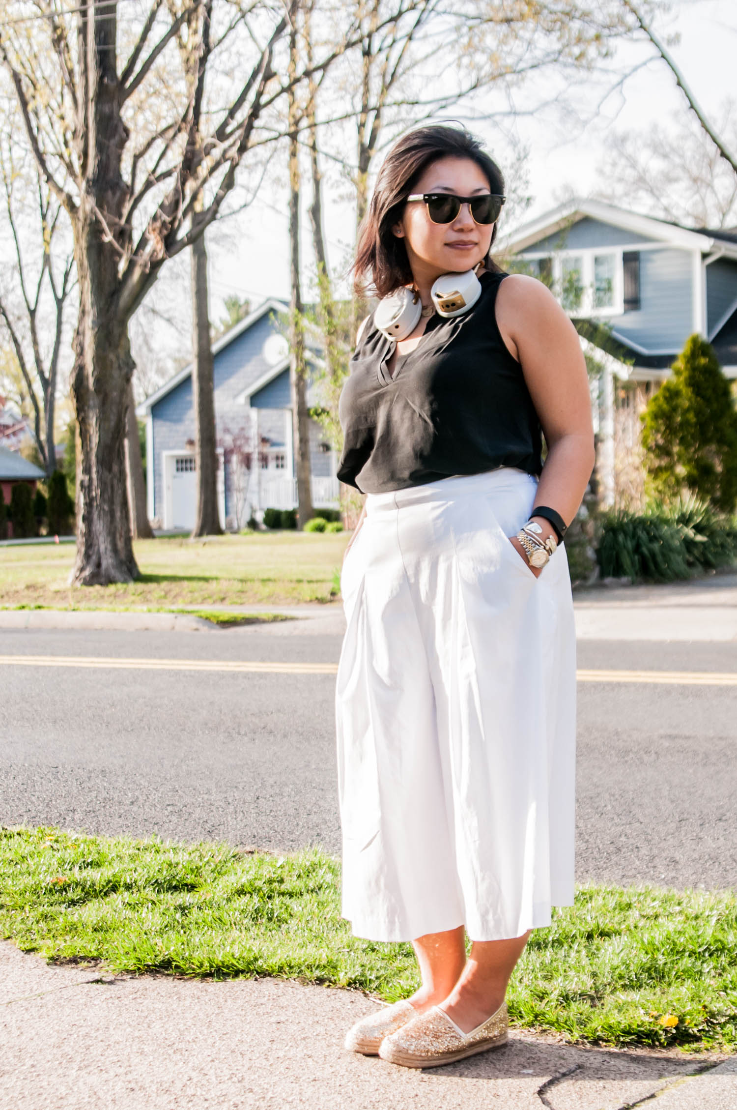 how to style culottes for petites