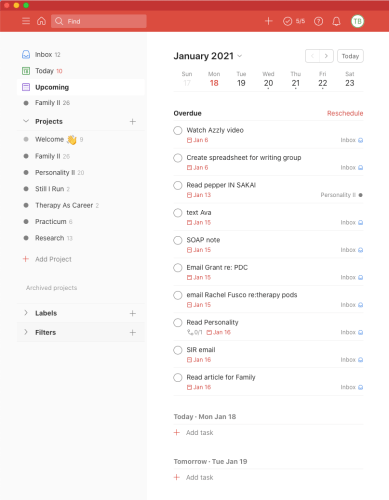 todoist project management software