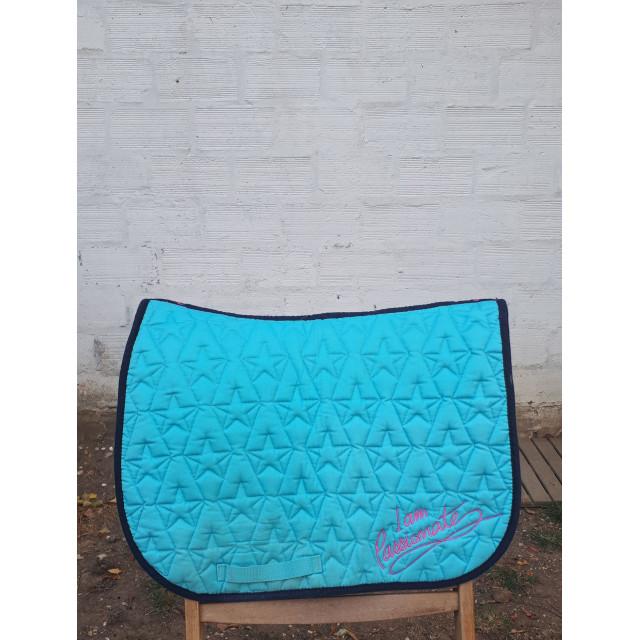 tapis bleu turquoise fouganza