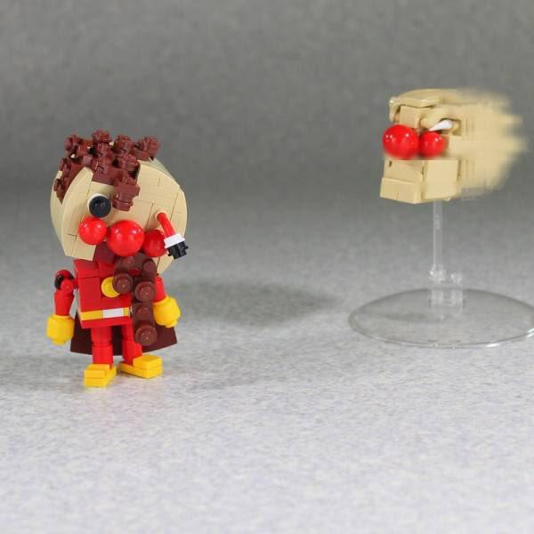 レゴで作った戦闘力100倍アンパンマン