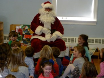 A welcome visit from Santa