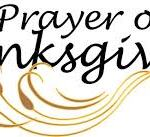 A Prayer of Thanks!