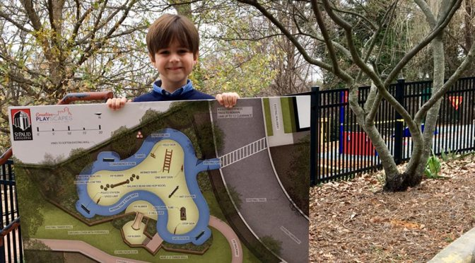 Preschooler Supports Page's Playground