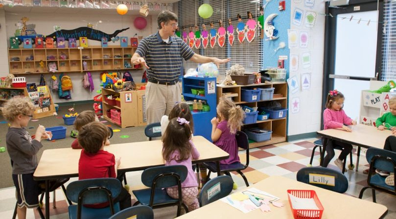 St. Paul's Preschool science class