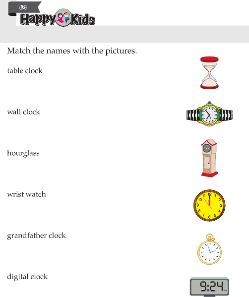 Kindergarten Skill Types Of Clock Preschool Page 2