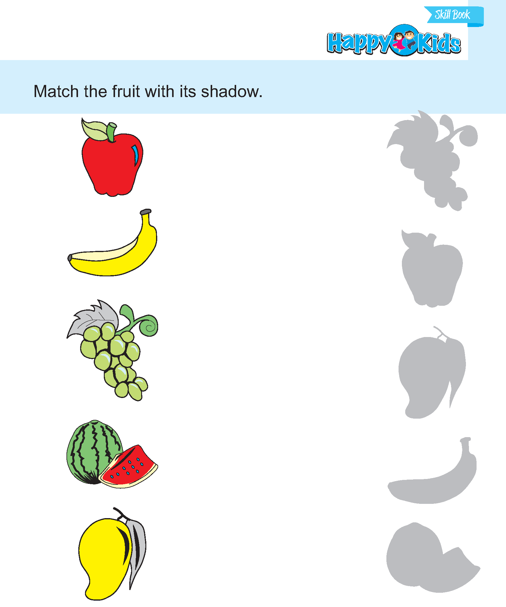 Picyures For Preschool Matching Worksheet