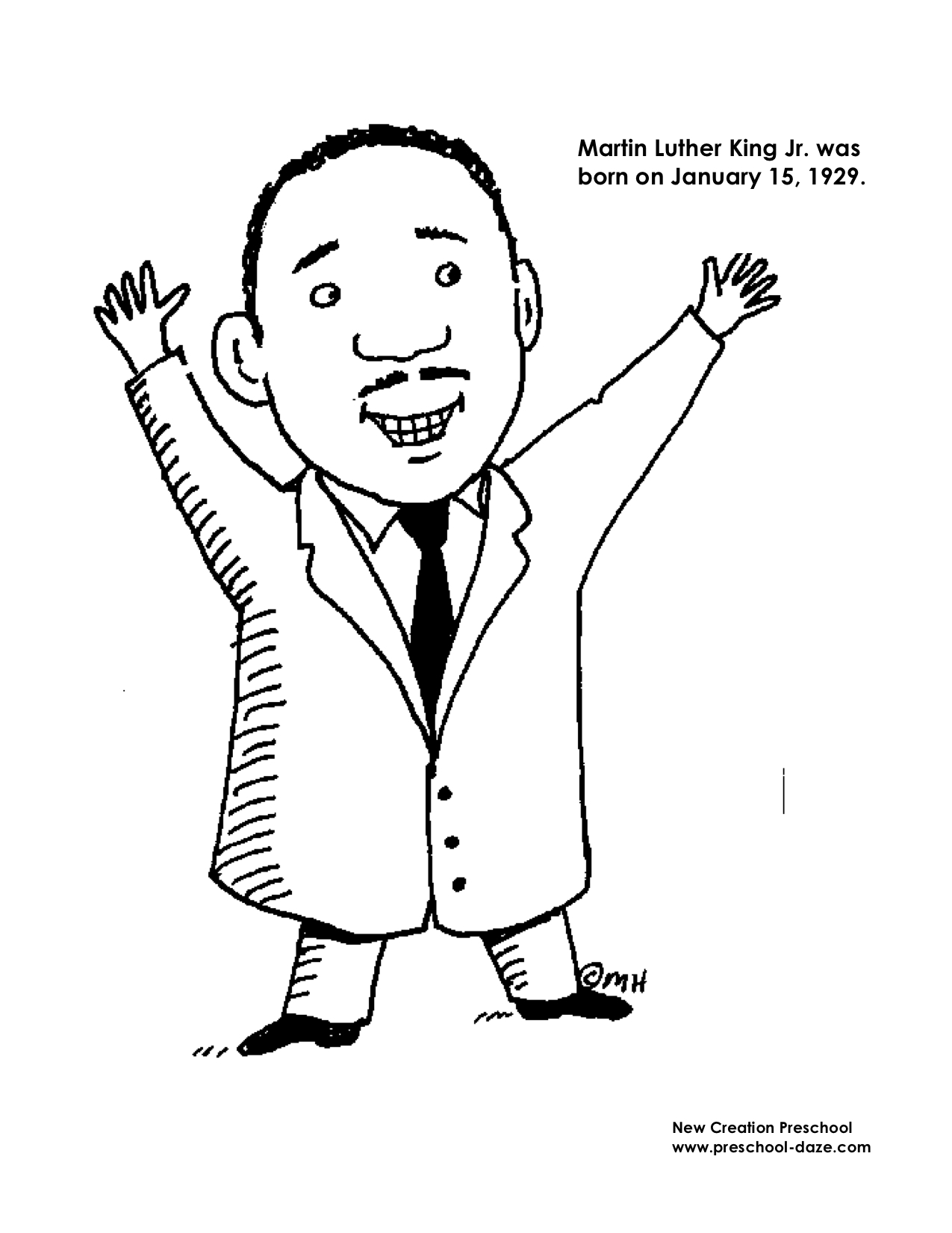 Martin Luther King Jr Coloring Pages For Kids