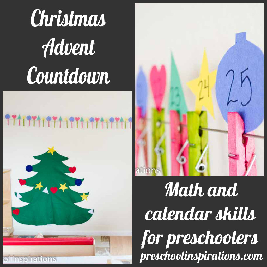 christmas advent countdown preschool inspirations. Black Bedroom Furniture Sets. Home Design Ideas