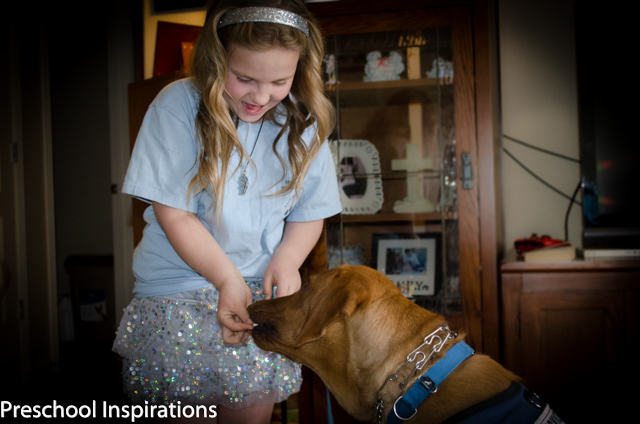 A Girl and Her Lifesaving Dog ~ Preschool Inspirations
