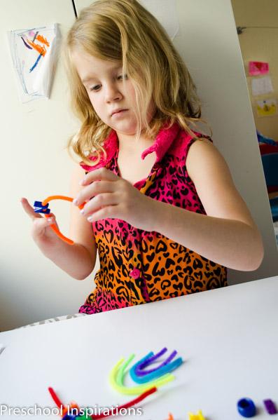 Rainbow Sight Word Lacing Busy Bag  by Preschool Inspirations-3