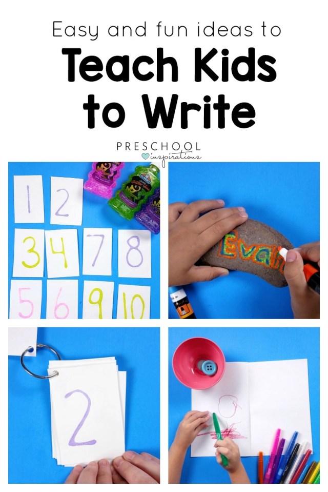 The Best Ways To Teach Kids Write