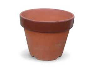 Painting flower pots craft for kids.