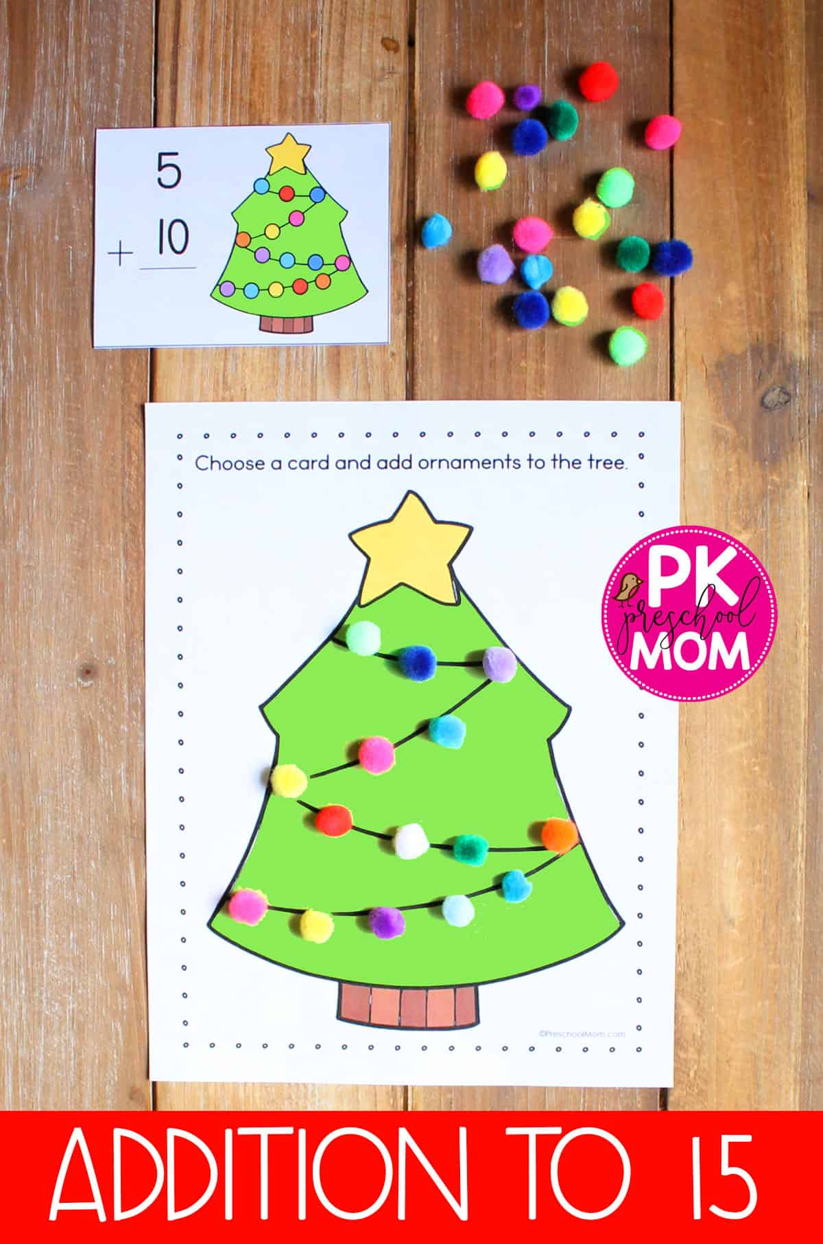 Christmas Tree Math Mat Addition Learning Games