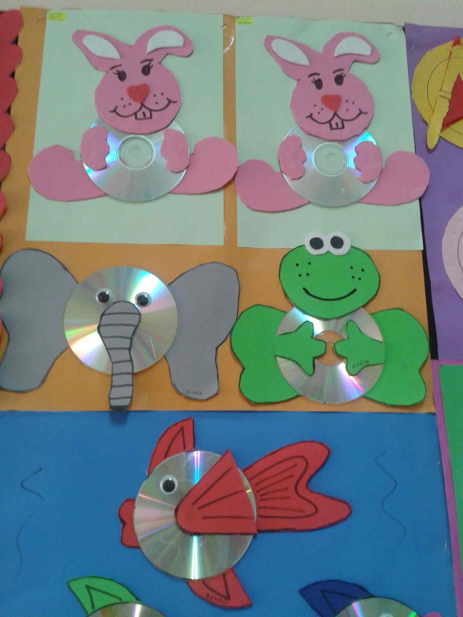 Cd Animals Craft Idea For Kids 2 Preschoolplanet