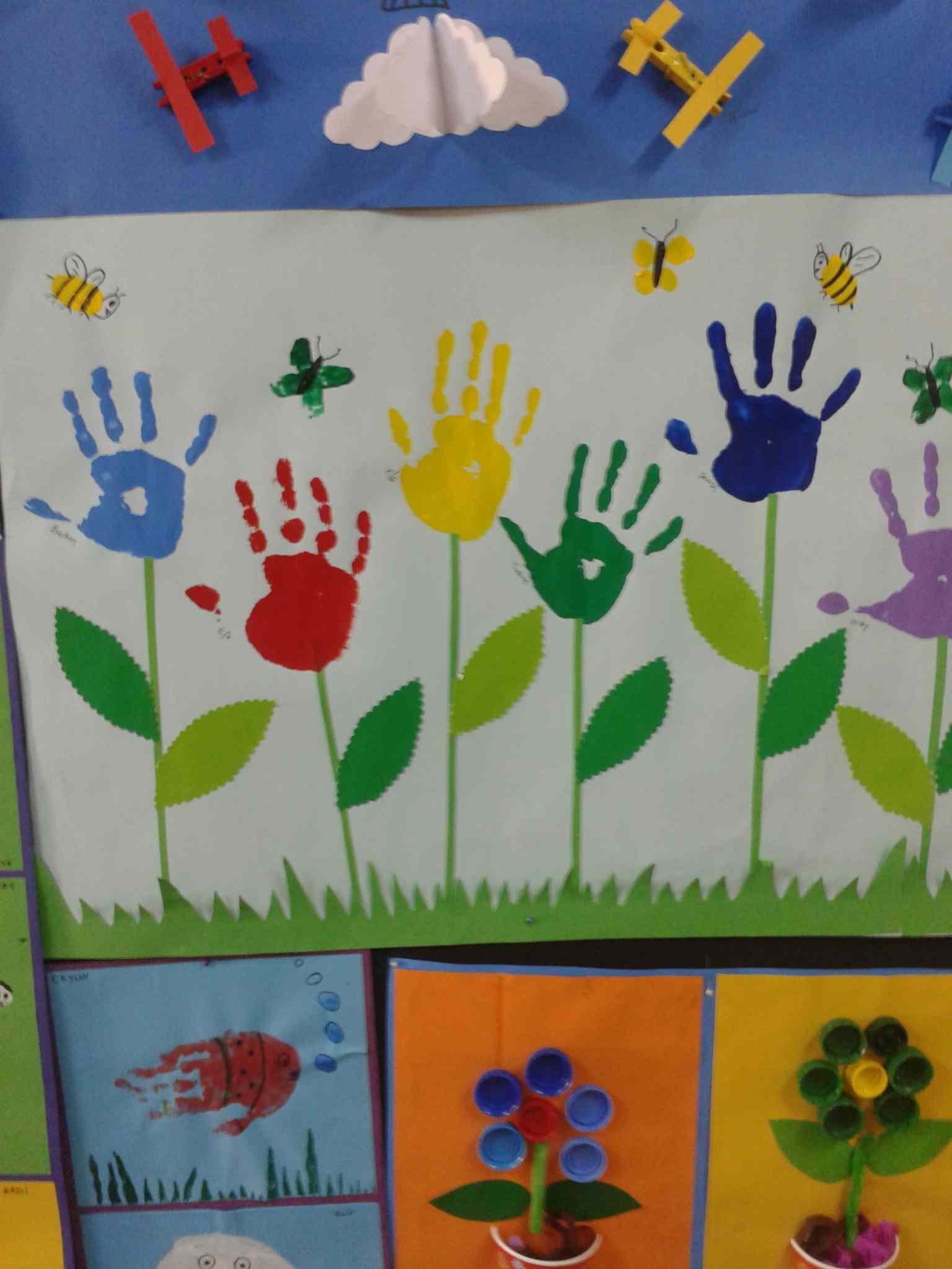 Handprint Flower Craft Preschoolplanet