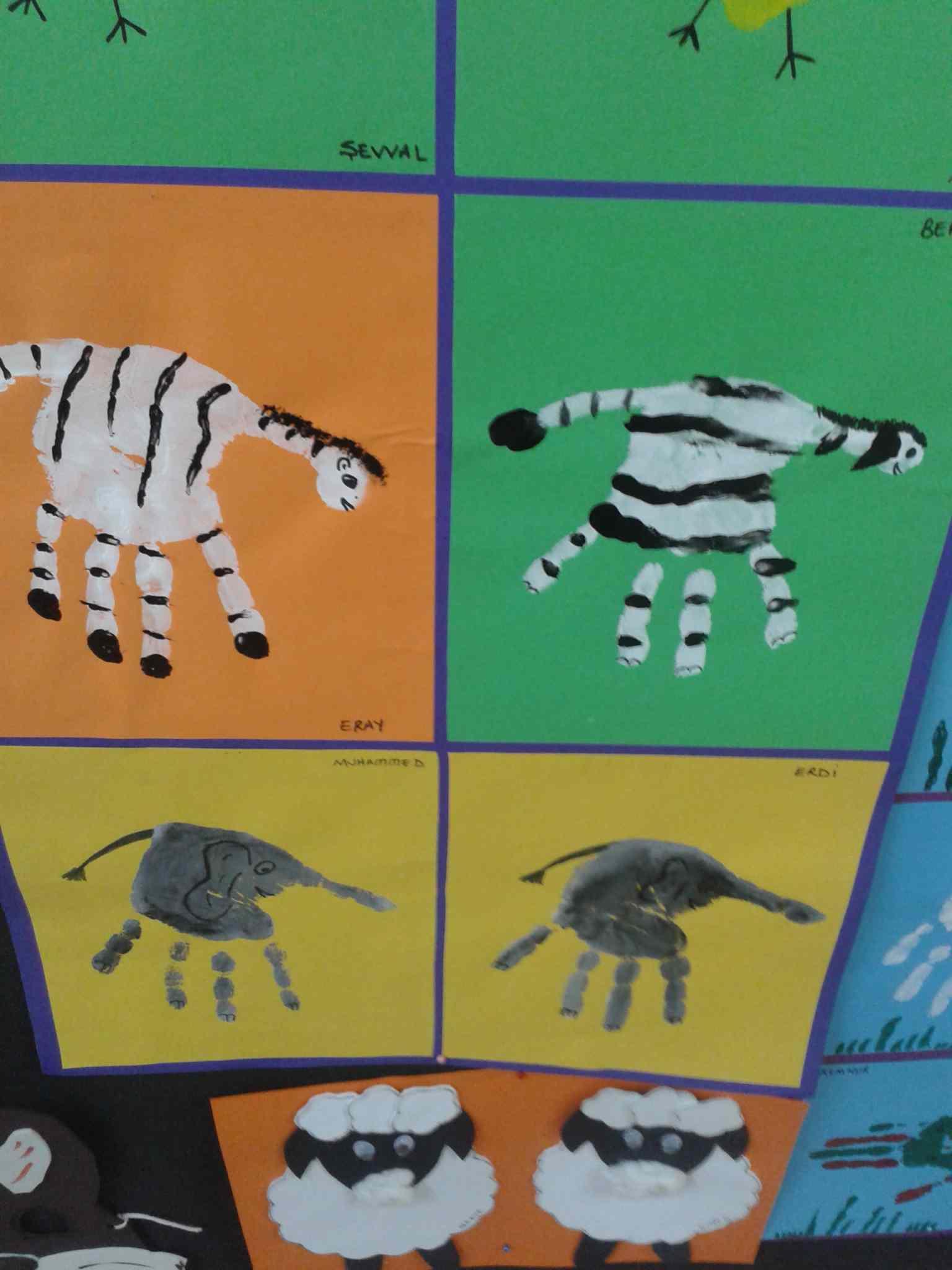 Handprint Zebra Craft Idea Preschoolplanet