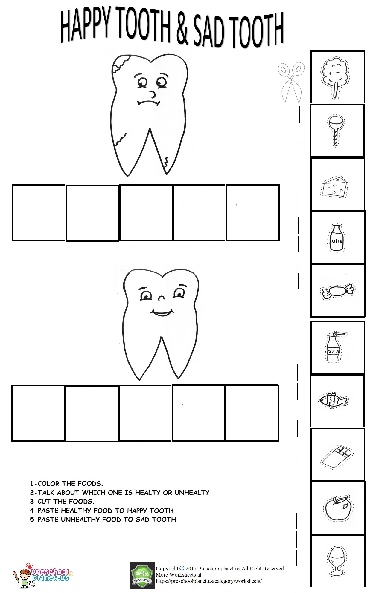 Teeth Worksheet For Preschool Roll A Number