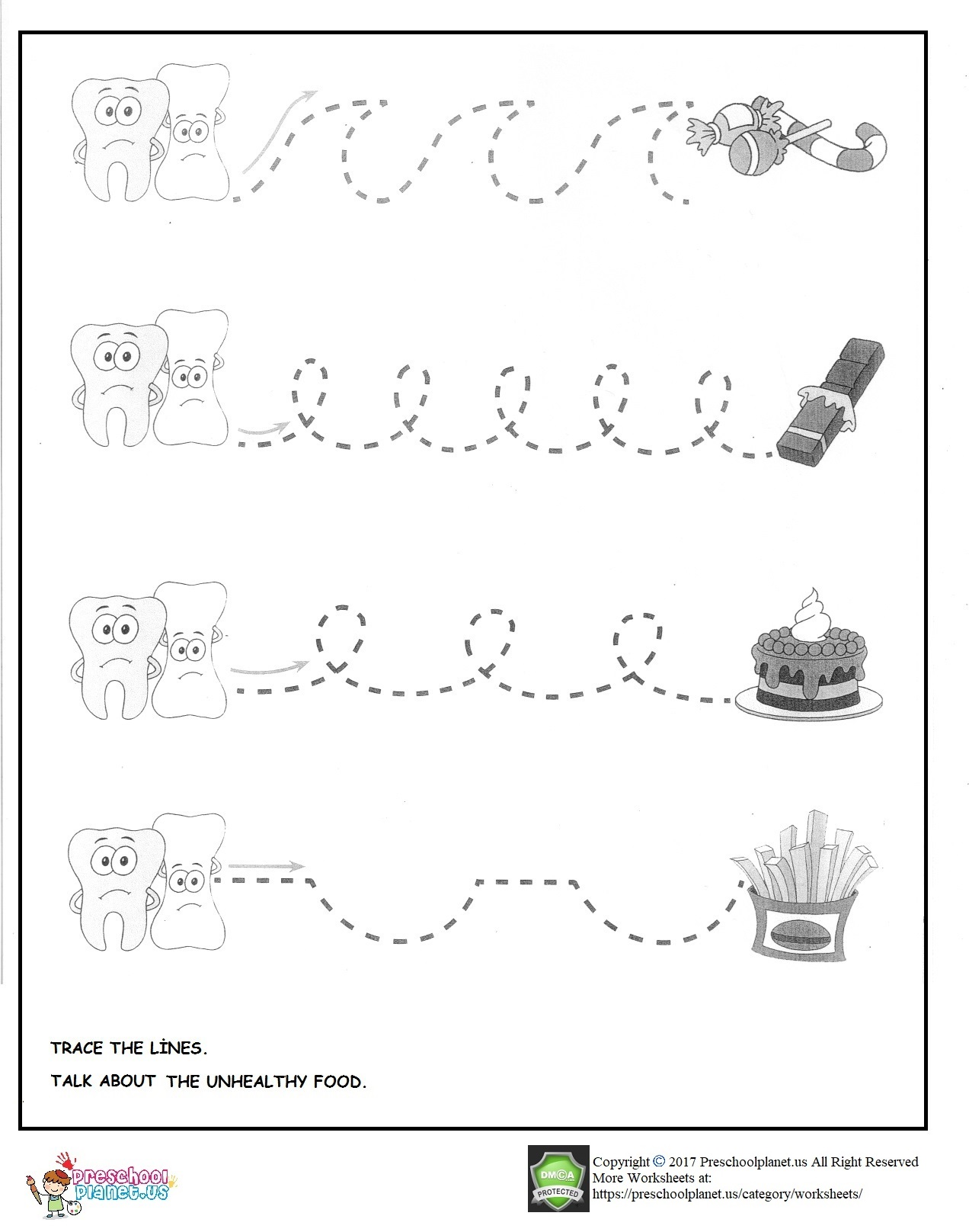 Tooth Brushing Worksheet For Preschoolers