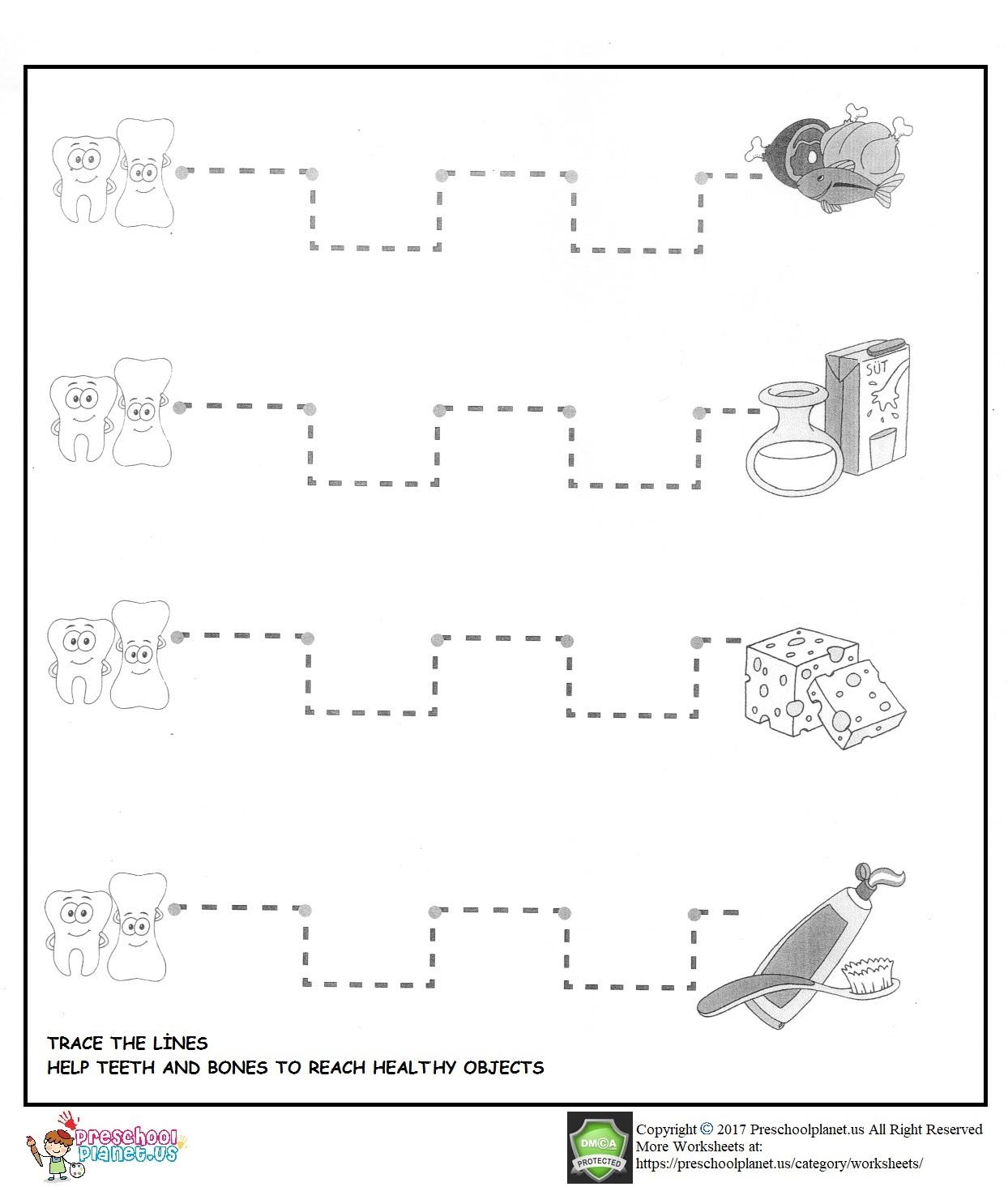 Dental Health Worksheet For Kids Preschoolplanet