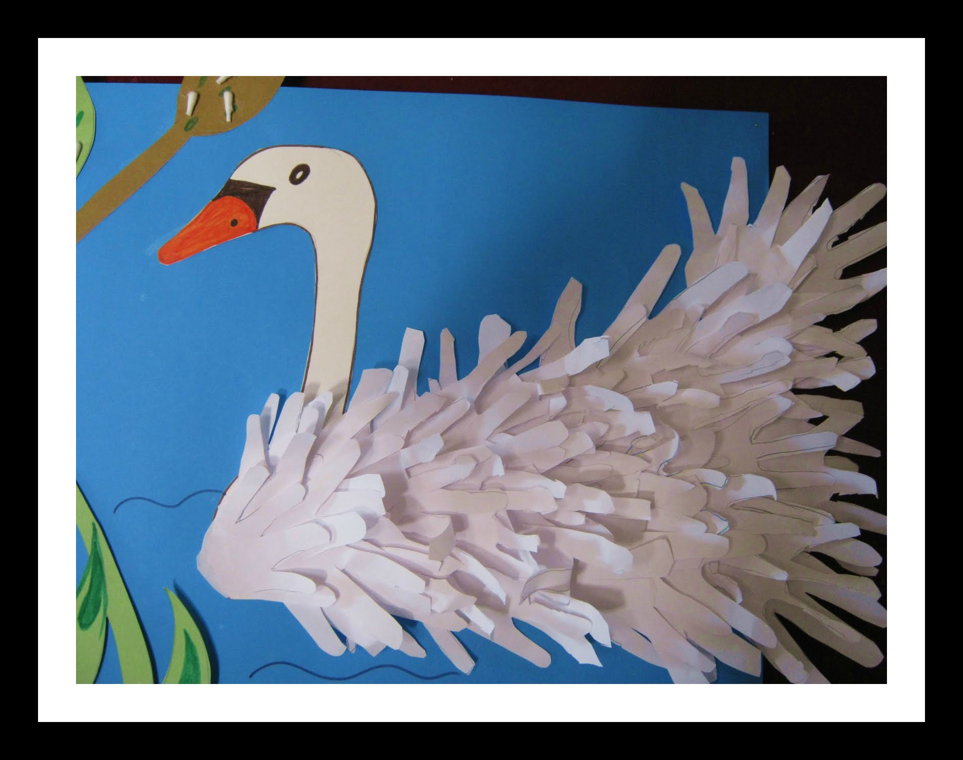 Handprint Swan Bulletin Board Idea For Kids Preschoolplanet