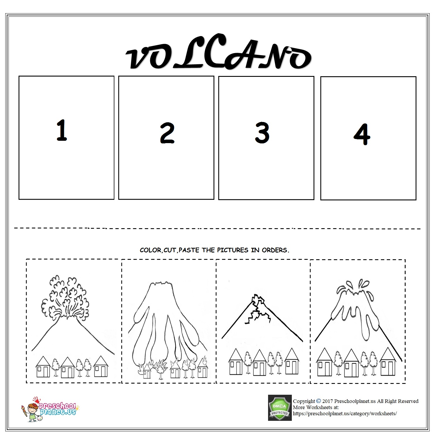 Volcano Worksheets Grade 3 | Printable Worksheets and ...