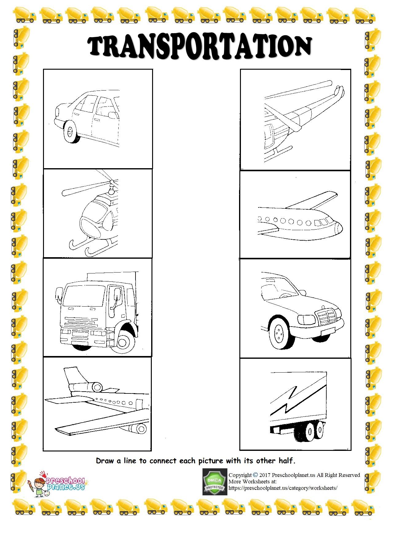 Ship Trace Worksheet Preschoolplanet