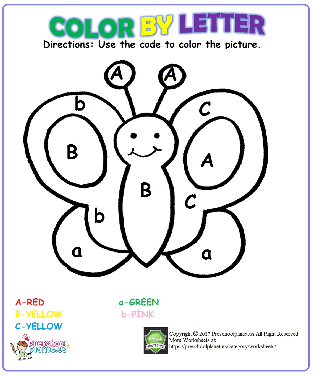 Worksheets Halloween Color By Letters