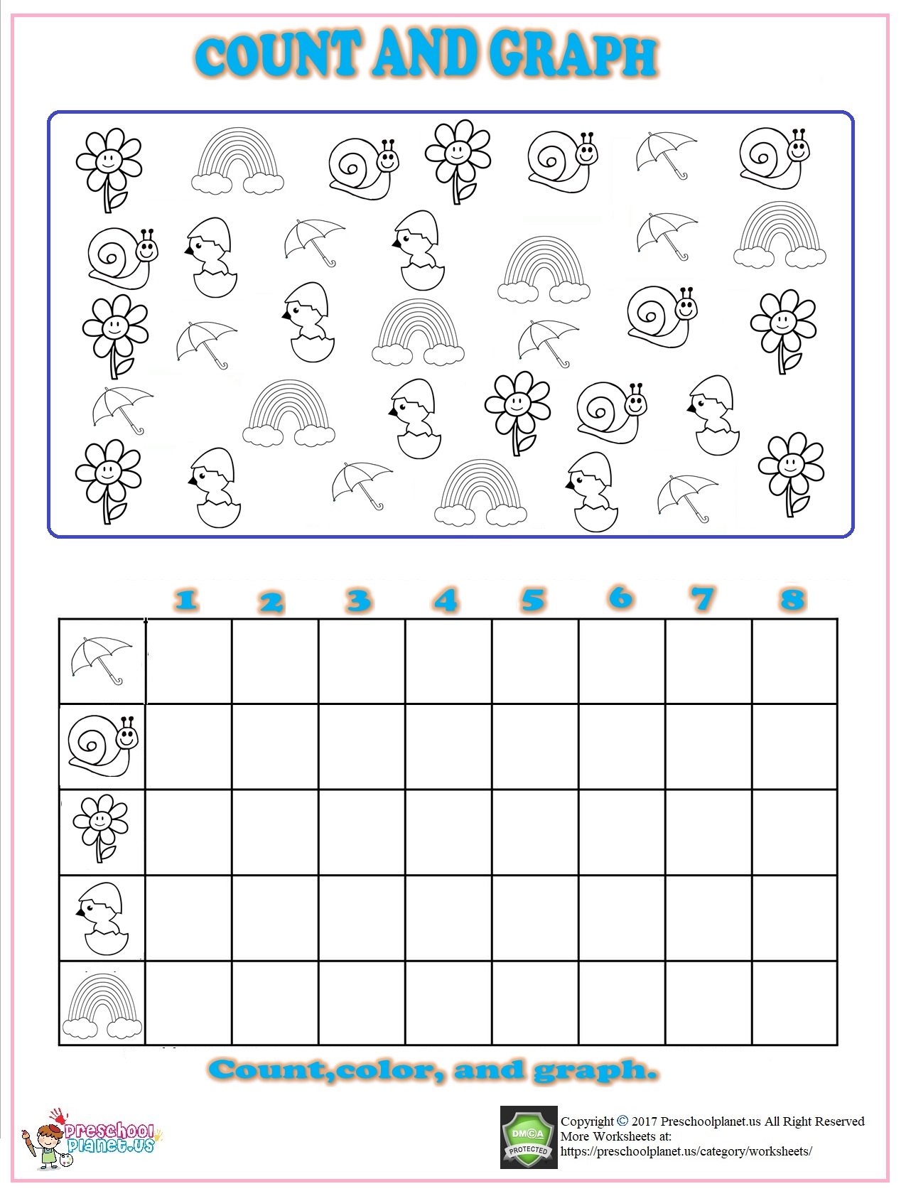 Kindergarten Worksheet Graphs