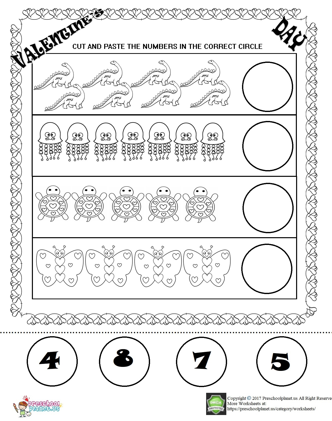 Valentine S Day Worksheet Preschoolplanet