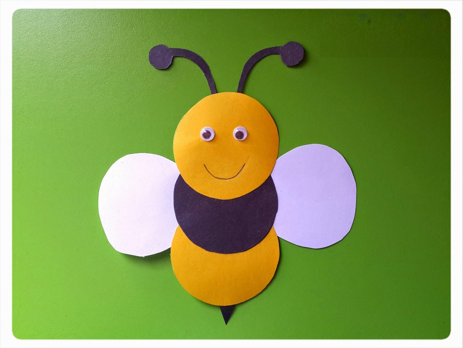 Bee Craft Idea Preschoolplanet