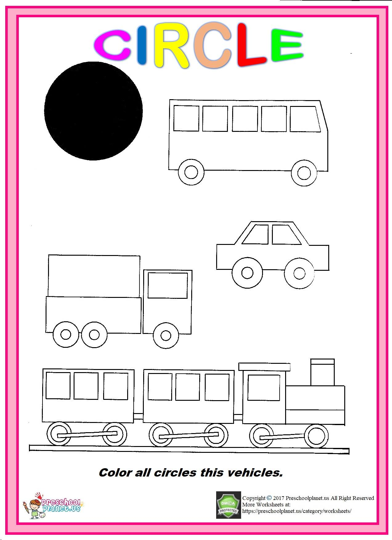 Circle Worksheet