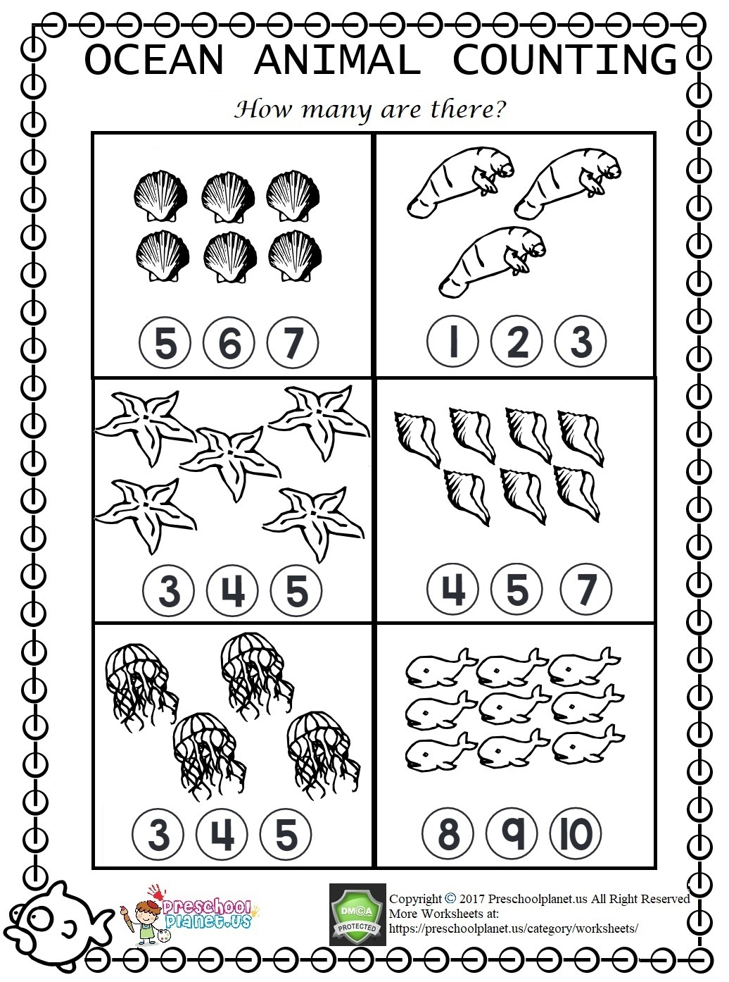 Number Trace Worksheet For Preschool Preschoolplanet