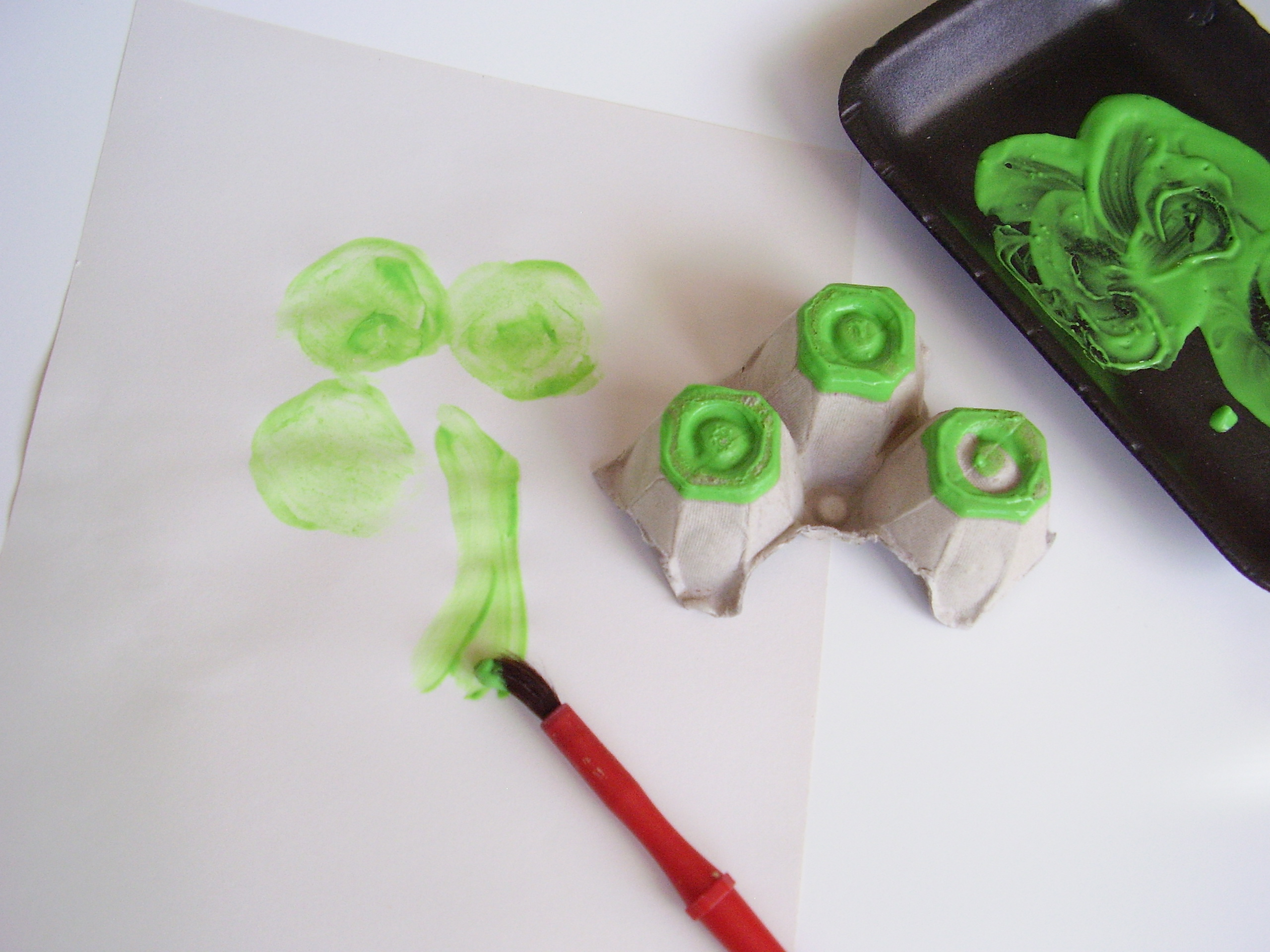 How To Make Shamrock Paintings With Preschoolers