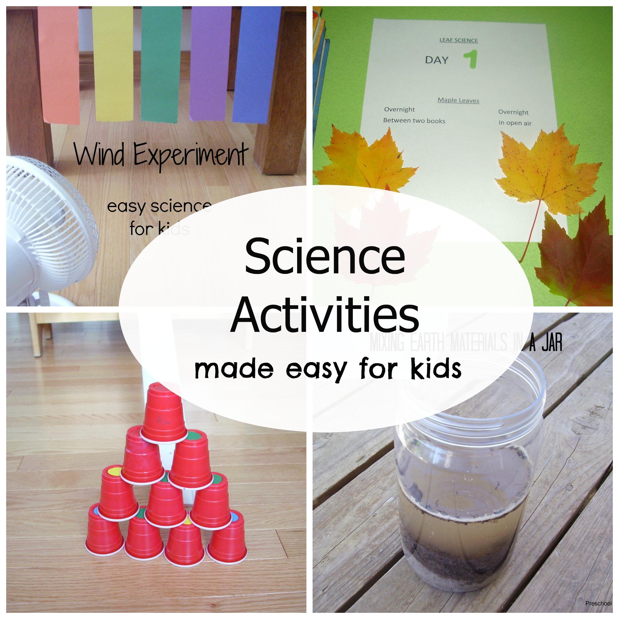 Simple Science Activities For Preschoolers Preschool Toolkit