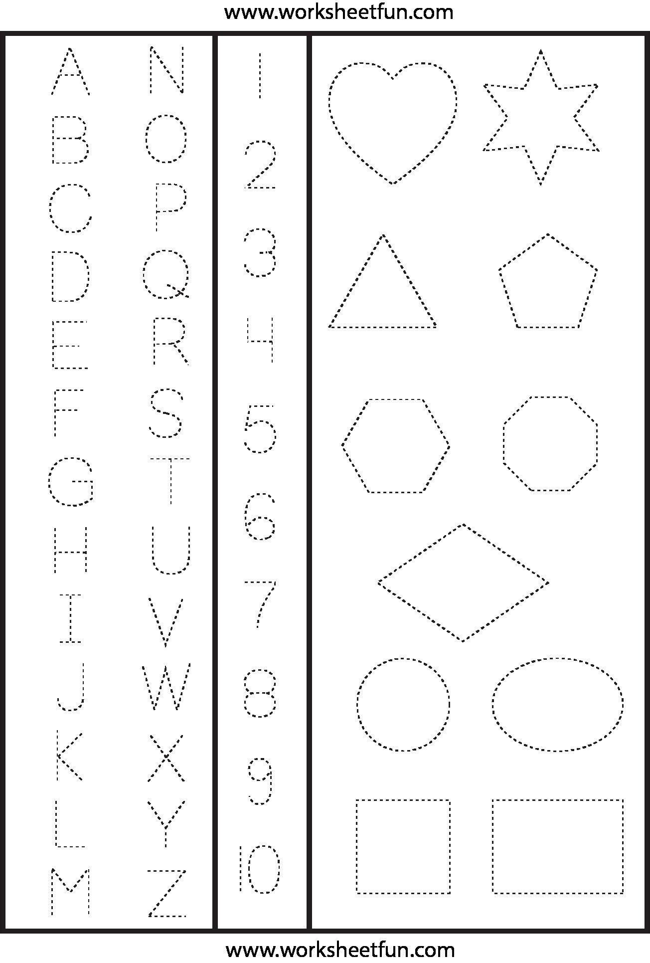 Preschool 123 Worksheets