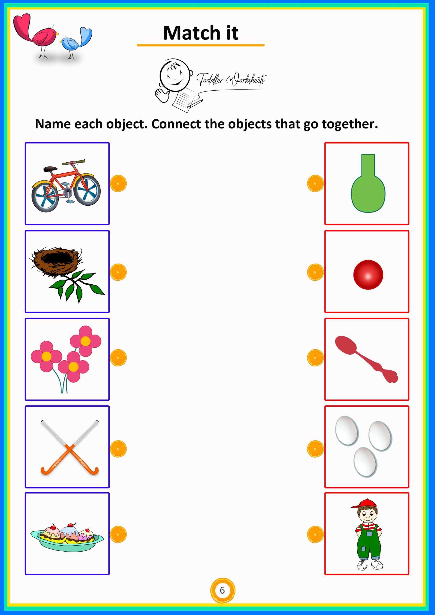 Preschool Worksheets Matching Objects