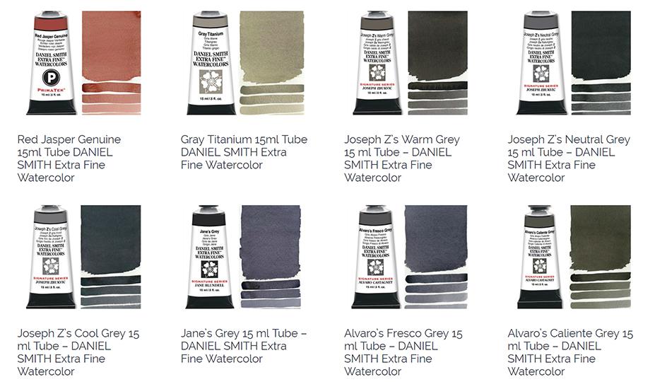 new colors! daniel smith watercolors