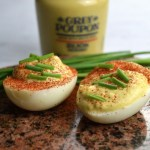 mustard deviled eggs paprika chives