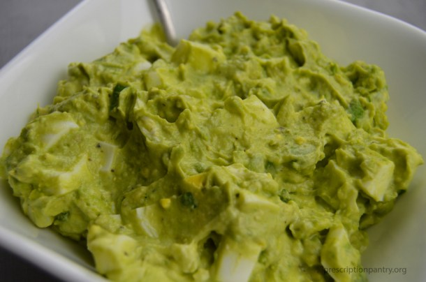 avocado egg salad closeup