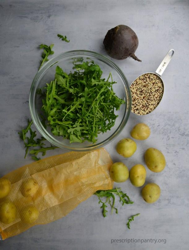 arugula beet quinoa potato