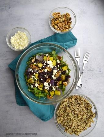roasted beet salad feta quinoa
