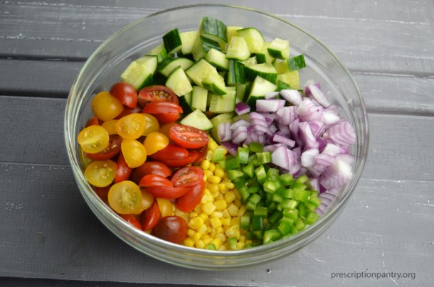 corn tomato cucumber red onion jalapeno