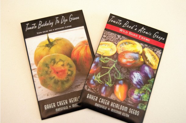heirloom tomato seed packets