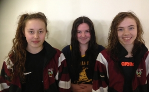 Congratulations to the members of the school swim team Michelle Gavin, Sarah Mitchell, Derva O'Reilly who took part in the Connacht Senior Schools Championships