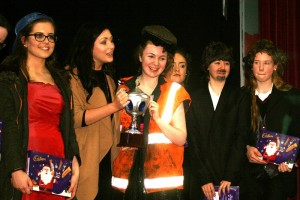 Our winners the Transition Years with their hilarious take on the 'Rose of Tralee'