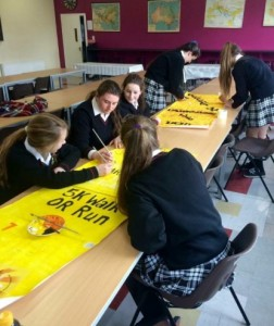 Preparing for the Pieta House fundraiser 'Darkness into Light'.