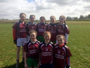 Team 2 Ciara O'Malley, Amy Dunleavy, Clionadh Hynes, Emma O'Malley, Caoimhe Kelly, Sarah Conneely, Aoife O'Rourke, Alice Kelly.